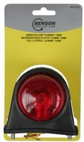 Breedtelamp rubber 72 mm rood/wit