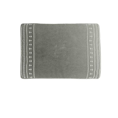 Santorini antislip badmat Anchors Grey